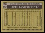 1990 Topps #235  Jeff Reardon  Back Thumbnail