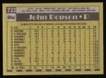 1990 Topps #733  John Dopson  Back Thumbnail