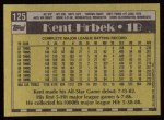1990 Topps #125  Kent Hrbek  Back Thumbnail