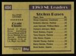 1990 Topps #404   -  Craig Biggio All-Star Back Thumbnail