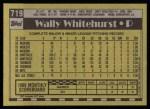 1990 Topps #719  Wally Whitehurst  Back Thumbnail