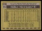 1990 Topps #367  Mike Morgan  Back Thumbnail