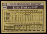 1990 Topps #629  Eric Hetzel  Back Thumbnail
