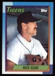 1990 Topps #498  Rick Schu  Front Thumbnail