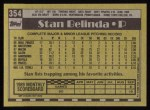 1990 Topps #354  Stan Belinda  Back Thumbnail