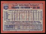 1991 Topps #128  Travis Fryman  Back Thumbnail