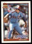 1991 Topps #77  Drew Hall  Front Thumbnail