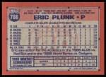 1991 Topps #786  Eric Plunk  Back Thumbnail