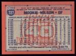 1991 Topps #727  Mookie Wilson  Back Thumbnail