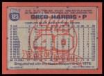 1991 Topps #123  Greg A. Harris  Back Thumbnail