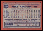 1991 Topps #657  Mike Kingery  Back Thumbnail