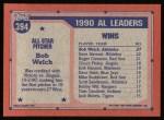 1991 Topps #394   -  Bob Welch All-Star Back Thumbnail