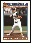 1991 Topps #394   -  Bob Welch All-Star Front Thumbnail