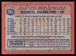 1991 Topps #781  Darryl Hamilton  Back Thumbnail