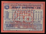 1991 Topps #76  Jerry Browne  Back Thumbnail