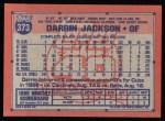 1991 Topps #373  Darrin Jackson  Back Thumbnail