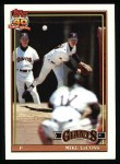 1991 Topps #242  Mike LaCoss  Front Thumbnail