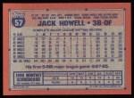 1991 Topps #57  Jack Howell  Back Thumbnail