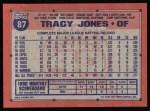 1991 Topps #87  Tracy Jones  Back Thumbnail