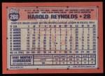 1991 Topps #260  Harold Reynolds  Back Thumbnail