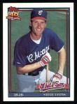 1991 Topps #612  Steve Lyons  Front Thumbnail