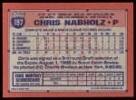 1991 Topps #197  Chris Nabholz  Back Thumbnail