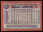 1991 Topps #554  Brian Harper  Back Thumbnail