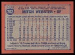 1991 Topps #762  Mitch Webster  Back Thumbnail