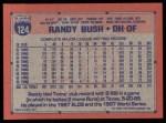 1991 Topps #124  Randy Bush  Back Thumbnail