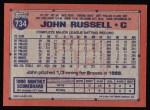1991 Topps #734  John Russell  Back Thumbnail