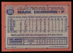 1991 Topps #129  Mark Eichhorn  Back Thumbnail