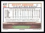 1992 Topps #437  Scott Servais  Back Thumbnail