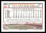 1992 Topps #492  Mike Devereaux  Back Thumbnail