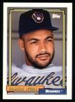 1992 Topps #329  Franklin Stubbs  Front Thumbnail
