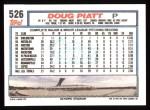 1992 Topps #526  Doug Piatt  Back Thumbnail