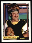 1992 Topps #312  Mike LaValliere  Front Thumbnail