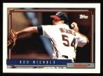 1992 Topps #586  Rod Nichols  Front Thumbnail