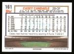 1992 Topps #161  Casey Candaele  Back Thumbnail