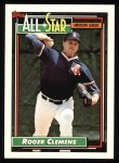 1992 Topps #405   -  Roger Clemens All-Star Front Thumbnail