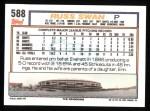 1992 Topps #588  Russ Swan  Back Thumbnail