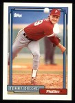 1992 Topps #83  Tommy Greene  Front Thumbnail