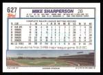 1992 Topps #627  Mike Sharperson  Back Thumbnail