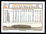 1992 Topps #311  Henry Cotto  Back Thumbnail