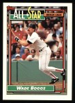 1992 Topps #399   -  Wade Boggs All-Star Front Thumbnail