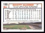 1992 Topps #198  Scott Aldred  Back Thumbnail