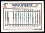 1992 Topps #457  Hubie Brooks  Back Thumbnail