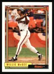 1992 Topps #65  Willie McGee  Front Thumbnail