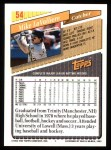 1993 Topps #54  Mike LaValliere  Back Thumbnail