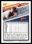 1993 Topps #272  Kurt Knudsen  Back Thumbnail