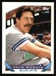 1993 Topps #185  Jack Morris  Front Thumbnail
